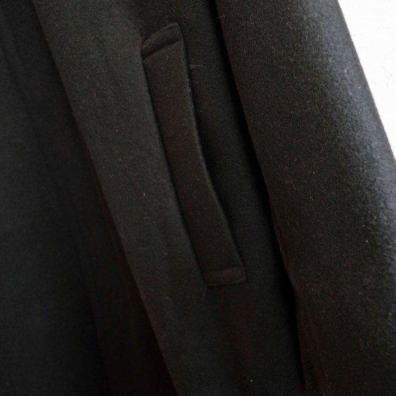LAMOND ラモンド / ENGLAND LAM WOOL OVER COAT イングランドラムウールオーバーコート (BLACK / ブラック)