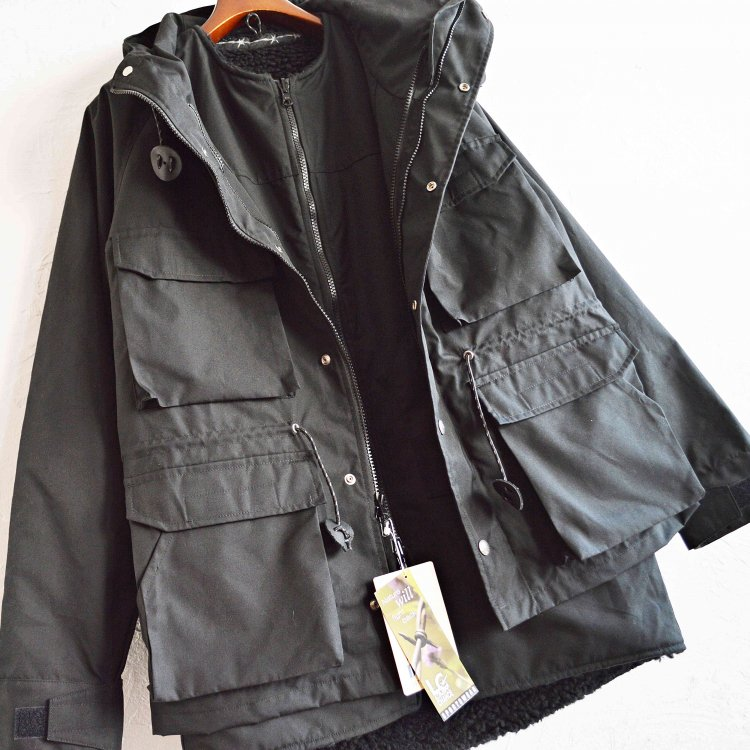 SIERRA DESINGNS×LAST CHANCE シエラデザイン ラストチャンス / 4WAY MOUNTAIN FATIGUE PARKA  (BLACK ブラック)<img class='new_mark_img2' src='https://img.shop-pro.jp/img/new/icons1.gif' style='border:none;display:inline;margin:0px;padding:0px;width:auto;' />
