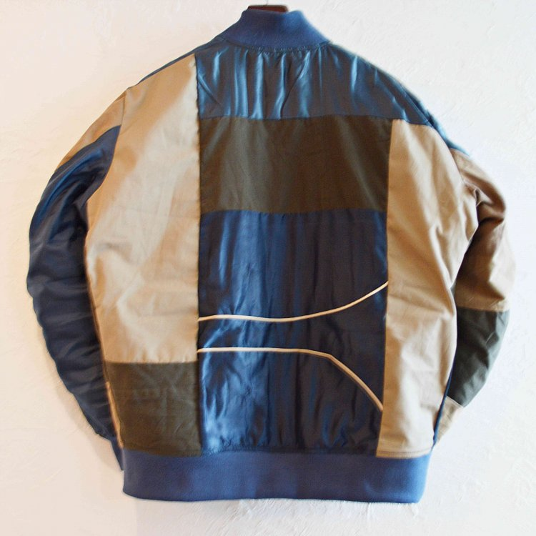 Nasngwam. ナスングワム / VARIOUS BLOUSON バリオスブルゾン Msize  (NAVY ネイビー)<img class='new_mark_img2' src='https://img.shop-pro.jp/img/new/icons1.gif' style='border:none;display:inline;margin:0px;padding:0px;width:auto;' />