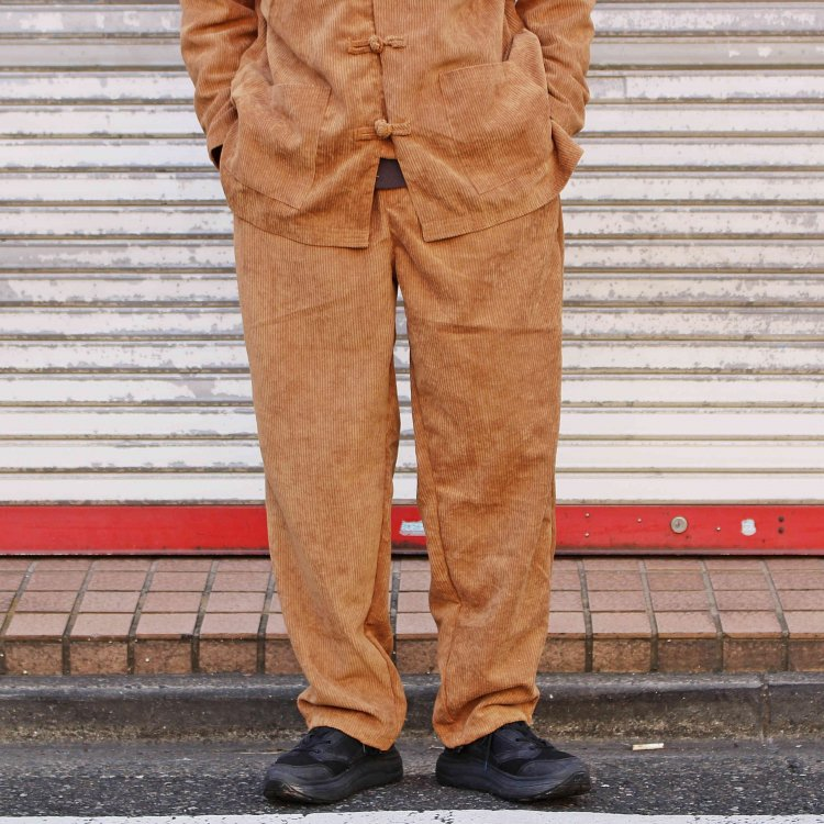 LEATHER TRAMP SELECT レザートランプセレクト / CORDUROY CHINA SETUP コーデュロイチャイナセットアップ (BROWN ブラウン)<img class='new_mark_img2' src='https://img.shop-pro.jp/img/new/icons1.gif' style='border:none;display:inline;margin:0px;padding:0px;width:auto;' />