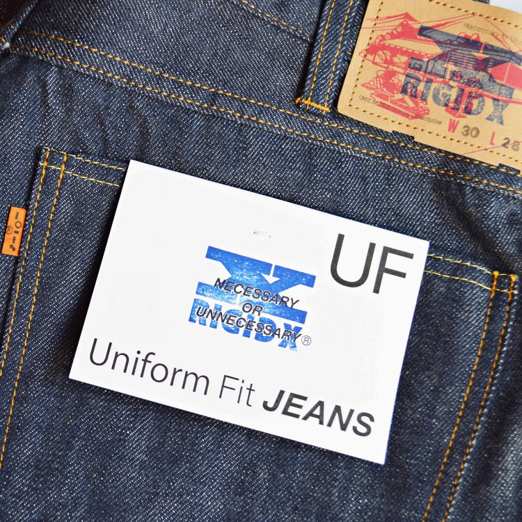 necessary or unnecessary ネセサリーオアアンネセサリー / UNIFORM FIT 'RIGID X' ユニフォームフィット リジッドエックス