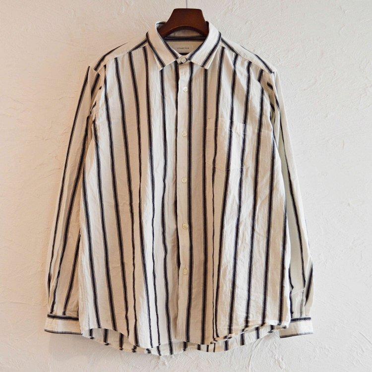 SPINNERBAIT スピナーベイト / ダブルワッシャーストライプオグリシャツ (WHITE ホワイト)