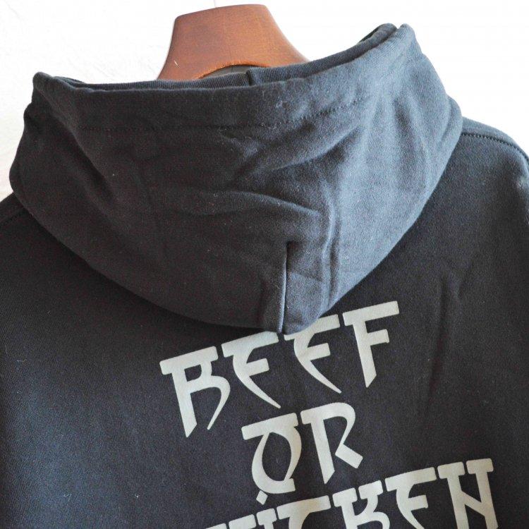 BEEF OR CHICKEN ビーフオアチキン / PARKA 六芒星 (BLACK ブラック)