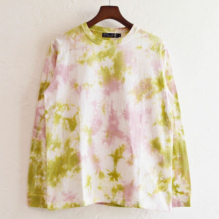 Nasngwam.×JAVARA ナスングワム ジャバラ / EARTH L/S TEE アースロングスリーブTシャツ Msize (梅 ウメ)