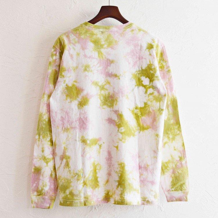 Nasngwam.×JAVARA ナスングワム ジャバラ / EARTH L/S TEE アースロングスリーブTシャツ Lsize (梅 ウメ)