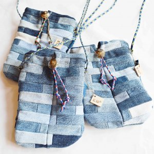 Nasngwam.×EARLY MORNING ナスングワム アーリーモーニング / CONNECT PORCH  コネクトポーチ (DENIM PATCHWORK デニムパッチワーク)<img class='new_mark_img2' src='https://img.shop-pro.jp/img/new/icons1.gif' style='border:none;display:inline;margin:0px;padding:0px;width:auto;' />