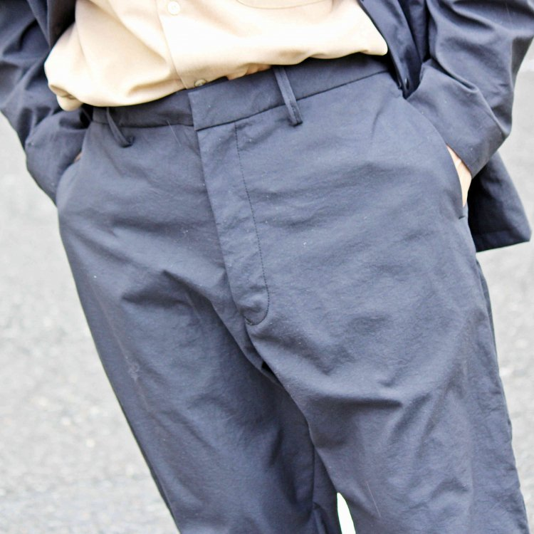 LAMOND ラモンド / NYLON OX PANTS ナイロンオックスパンツ (BLACK ブラック)