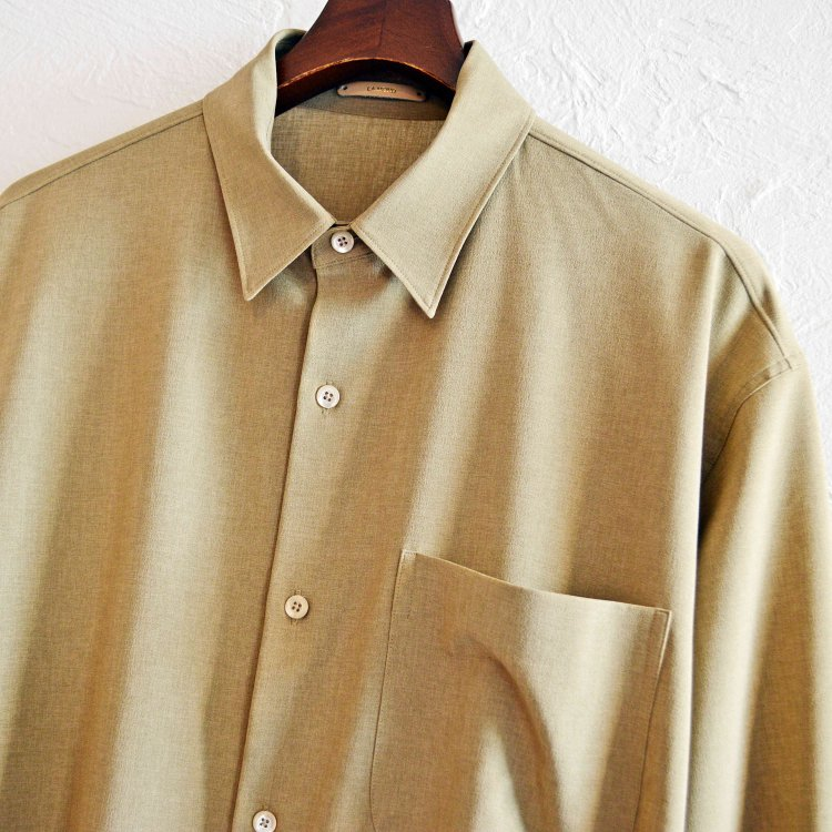 LAMOND ラモンド / BOLD SHARI SHIRT JACKET ボールドシャリシャツジャケット (BEIGE ベージュ)