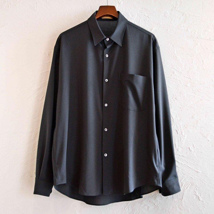 LAMOND ラモンド / BOLD SHARI SHIRT JACKET ボールドシャリシャツジャケット (CHARCOAL チャコール)