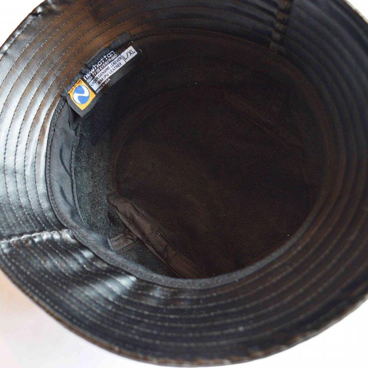 NEWHATTAN ニューハッタン / LEATHER BUCKET HAT レザーバケットハット (BLACK ブラック)