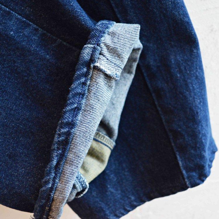 SUNNY SIDE UP サニーサイドアップ / WRAP DENIM PT ラップデニムパンツ (BLUE ブルー)