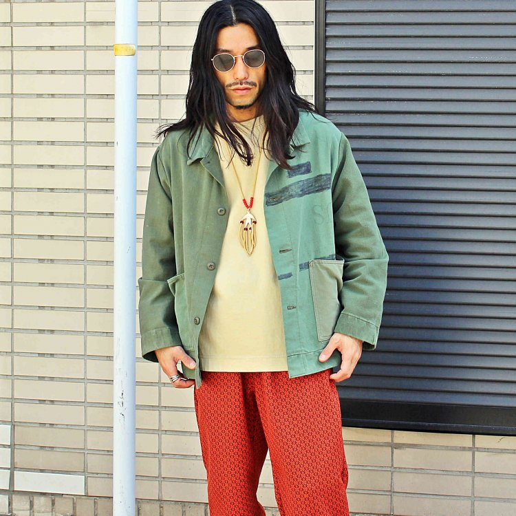 SUNNY SIDE UP サニーサイドアップ / ARMY BAG COVERALL アーミーカバーオール<img class='new_mark_img2' src='https://img.shop-pro.jp/img/new/icons1.gif' style='border:none;display:inline;margin:0px;padding:0px;width:auto;' />