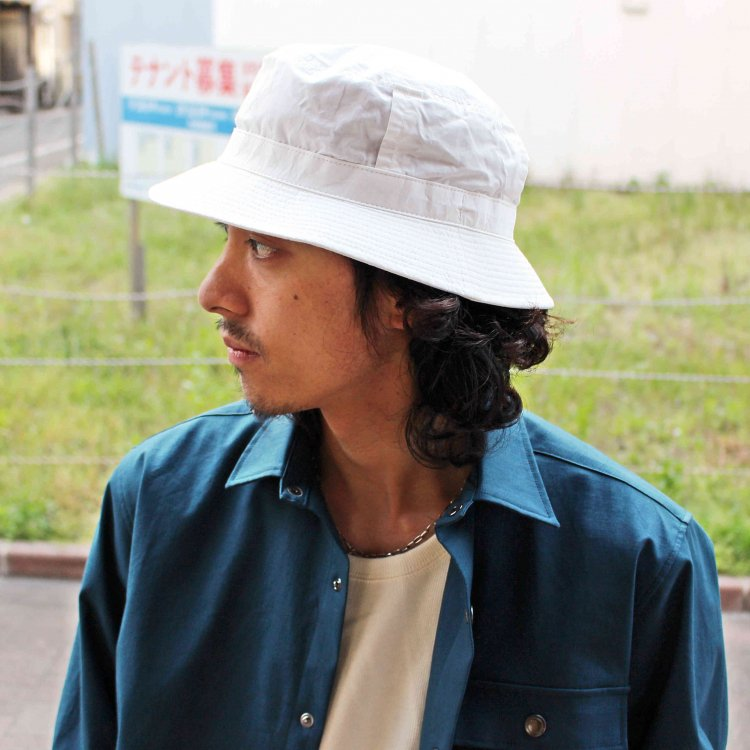 morno モーノ / COTTON WASH BUCKET HAT コットンウォッシュバケットハット (WHITE ホワイト)
