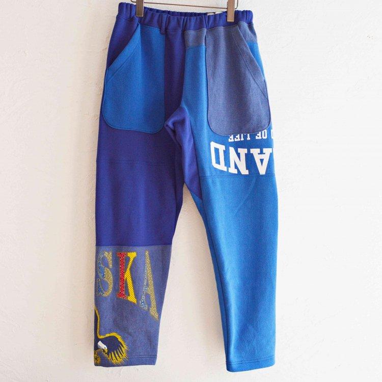 Nasngwam. ナスングワム / PUZZLE PANTS パズルパンツ (BLUE ブルー Lsize)