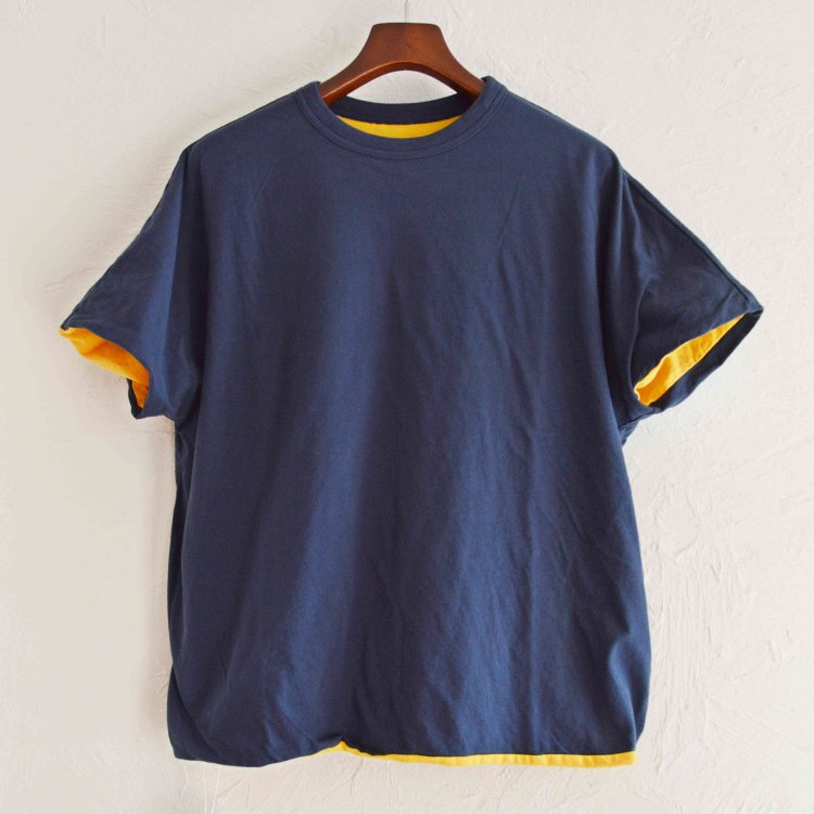 necessary or unnecessary ネセサリーオアアンネセサリー N.O.U.N ナウン / REVERSE TEE リバーシブルTEE (NAVY ネイビー)<img class='new_mark_img2' src='https://img.shop-pro.jp/img/new/icons1.gif' style='border:none;display:inline;margin:0px;padding:0px;width:auto;' />