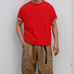 necessary or unnecessary ネセサリーオアアンネセサリー N.O.U.N ナウン / REVERSE TEE リバーシブルTEE (RED レッド)<img class='new_mark_img2' src='https://img.shop-pro.jp/img/new/icons1.gif' style='border:none;display:inline;margin:0px;padding:0px;width:auto;' />