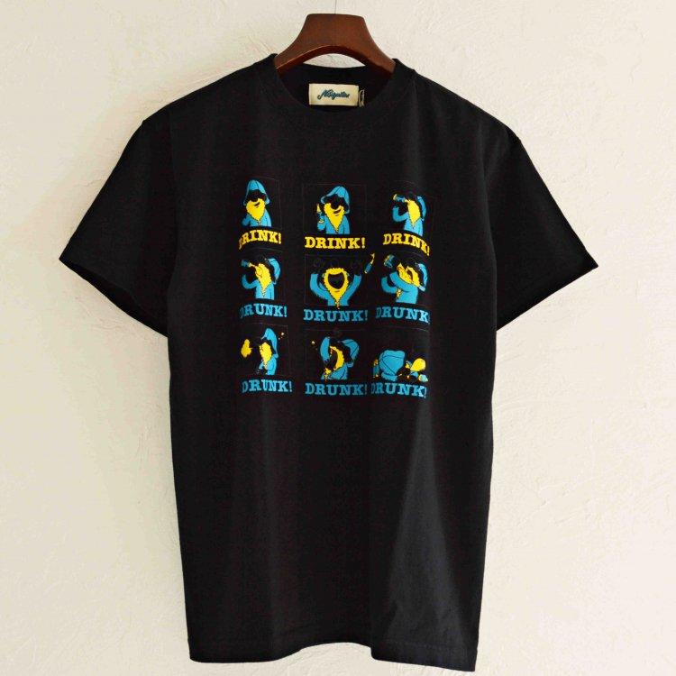 Nasngwam. ナスングワム / REMOTE DRINKING TEE プリントTシャツ(BLACK ブラック)