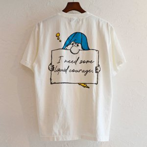 Nasngwam. ナスングワム / DRUNKER TEE プリントTシャツ(WHITE ホワイト)<img class='new_mark_img2' src='https://img.shop-pro.jp/img/new/icons1.gif' style='border:none;display:inline;margin:0px;padding:0px;width:auto;' />