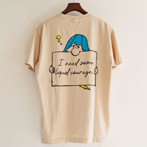 Nasngwam. ナスングワム / DRUNKER TEE プリントTシャツ(SAND BEIGE サンドベージュ)<img class='new_mark_img2' src='https://img.shop-pro.jp/img/new/icons1.gif' style='border:none;display:inline;margin:0px;padding:0px;width:auto;' />