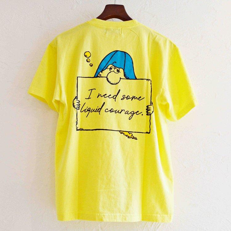 Nasngwam. ナスングワム / DRUNKER TEE プリントTシャツ(LIGHT YELLOW ライトイエロー)