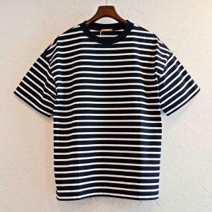 LAMOND ラモンド / PERU COTTON BORDER T-Shirt  ボーダーTシャツ (NAVY×WHITE ネイビーホワイト)