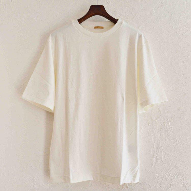 LAMOND ラモンド/ SUVIN COTTON 5分袖 T-shirt スビンコットンTシャツ (WHITE ホワイト)