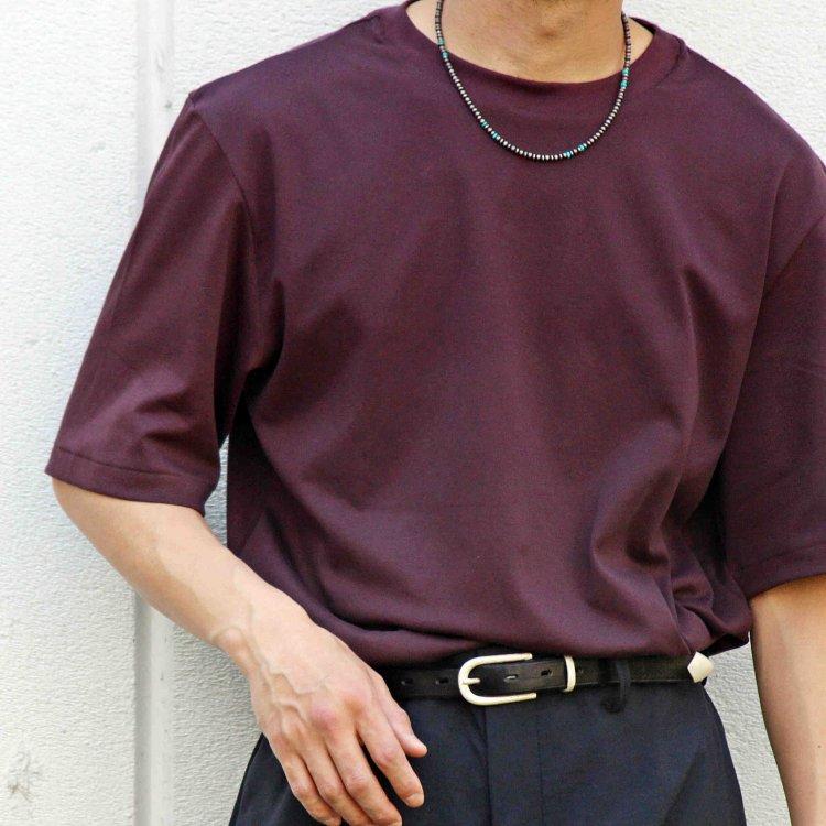 LAMOND ラモンド/ SUVIN COTTON 5分袖 T-shirt スビンコットンTシャツ (WINE-RED ワインレッド)<img class='new_mark_img2' src='https://img.shop-pro.jp/img/new/icons55.gif' style='border:none;display:inline;margin:0px;padding:0px;width:auto;' />