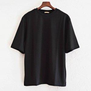 LAMOND ラモンド/ SUVIN COTTON 5分袖 T-shirt スビンコットンTシャツ (BLACK ブラック)