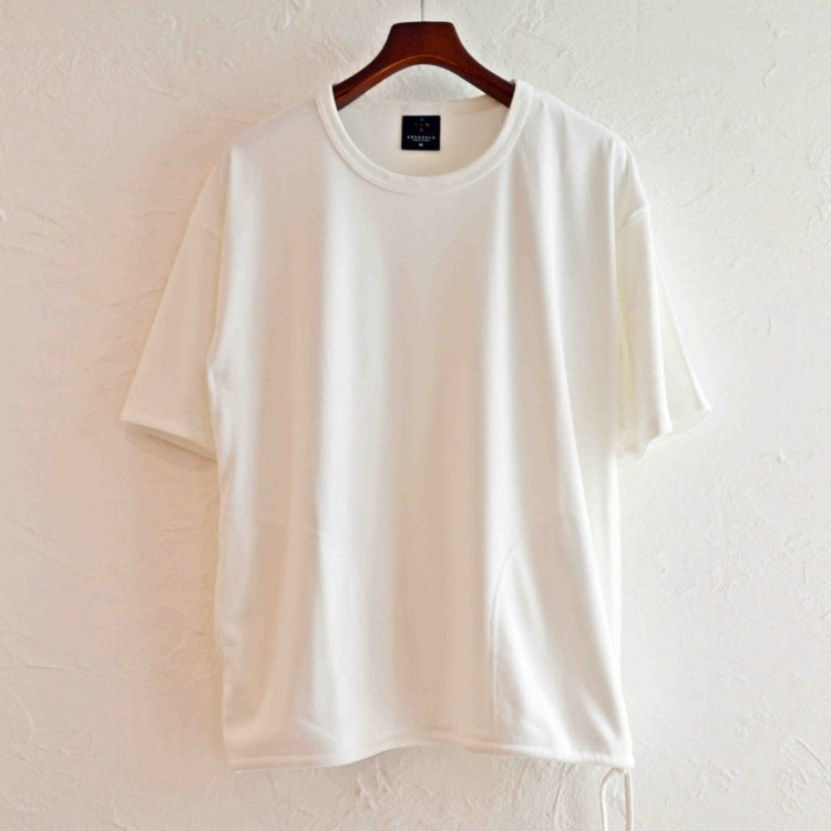 AXESQUIN アクシーズクイーン / DRAW STRING TEE (WHITE ホワイト)
