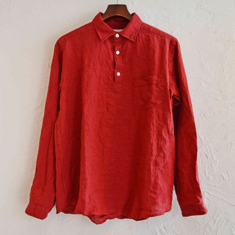 SPINNER BAIT スピナーベイト / グランジウォッシュリネンラモスシャツ (RED レッド)