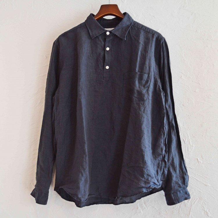 SPINNER BAIT スピナーベイト / グランジウォッシュリネンラモスシャツ (BLACK ブラック)