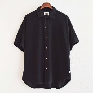 melple メイプル / CAパイルカカアコドルマンシャツ (BLACK ブラック)