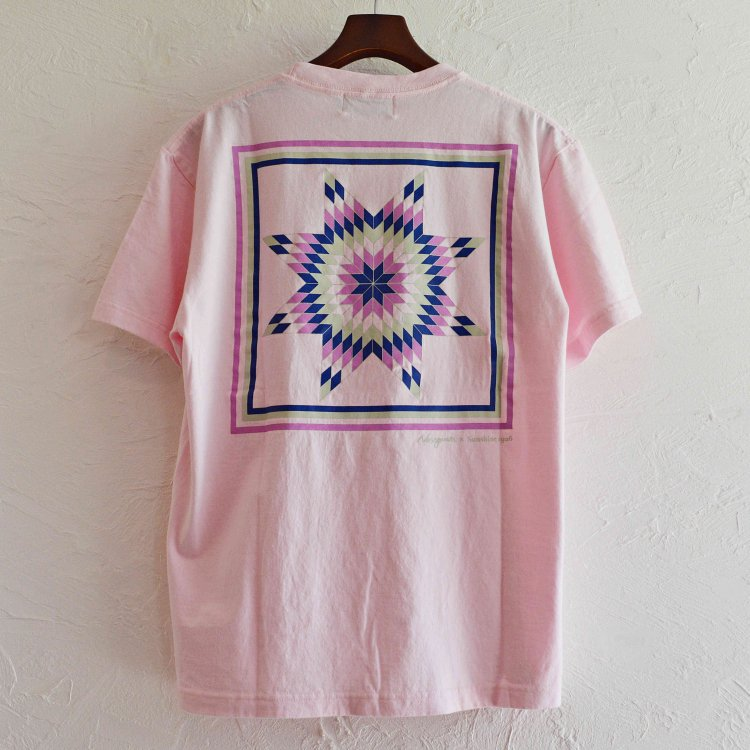 NASNGWAM×SUNSHINE STUDIO ナスングワム サンシャインスタジオ / MORNING STAR TEE モーニングスターTシャツ (LIGHT PINK ライトピンク)