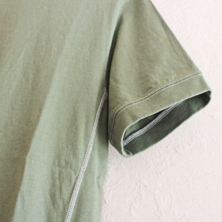 modemdesign モデムデザイン / GARMENT DYED USA RIB Tee ガーメントダイユーエスエーティーシャツ(GREEN グリーン)