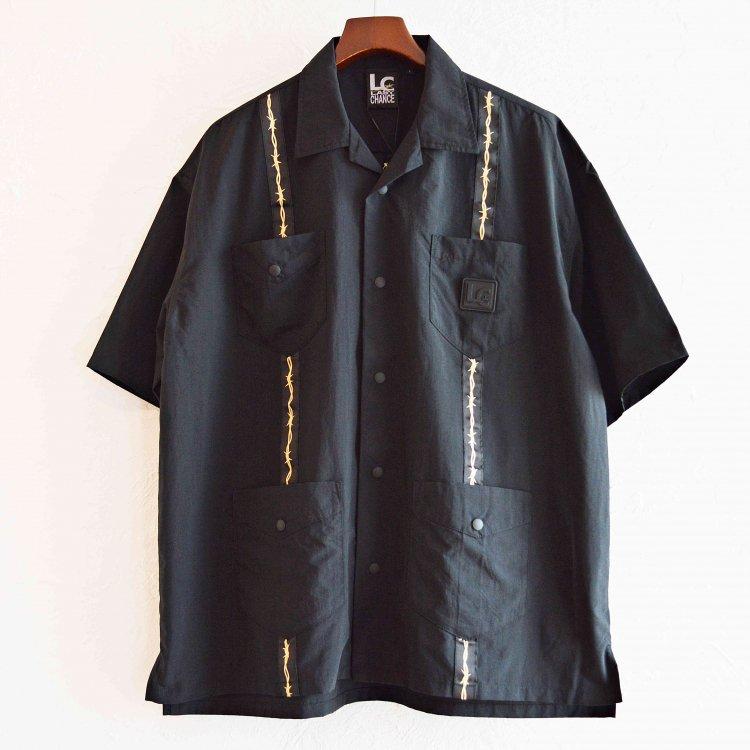 LAST CHANCE ラストチャンス / Wire Tape Cuba Pocket Shirt ワイヤーテープキューバポケットシャツ (BLACK ブラック)
