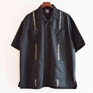 LAST CHANCE ラストチャンス / Wire Tape Cuba Pocket Shirt ワイヤーテープキューバポケットシャツ (BLACK ブラック)<img class='new_mark_img2' src='https://img.shop-pro.jp/img/new/icons1.gif' style='border:none;display:inline;margin:0px;padding:0px;width:auto;' />