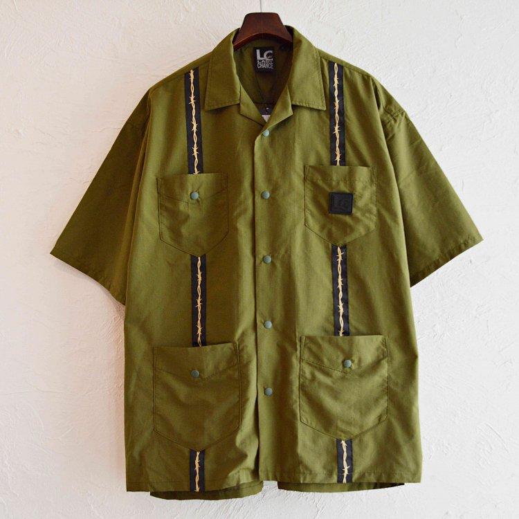 LAST CHANCE ラストチャンス / Wire Tape Cuba Pocket Shirt ワイヤーテープキューバポケットシャツ (OLIVE オリーブ)