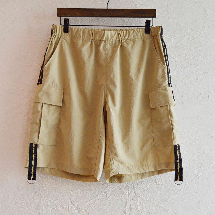 LAST CHANCE ラストチャンス / Wire Tape w/D-Ring Cargo Shorts ワイヤーテープディーリングカーゴショーツ (BEIGE ベージュ)