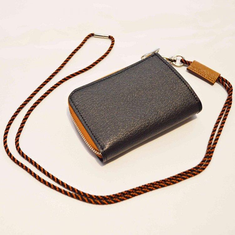 ITUAIS イトゥアイス / Montado Neck Mini Wallet モンタードネックミニウォレット (Black/Brown ブラックブラウン)