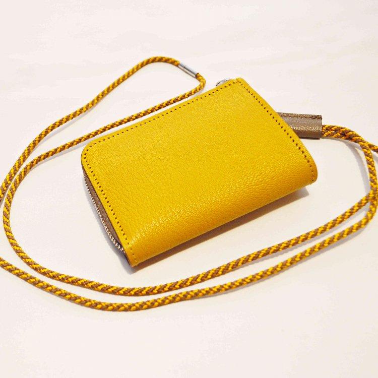 ITUAIS イトゥアイス / Montado Neck Mini Wallet モンタードネックミニウォレット (Yellow/Greige イエローグレージュ)