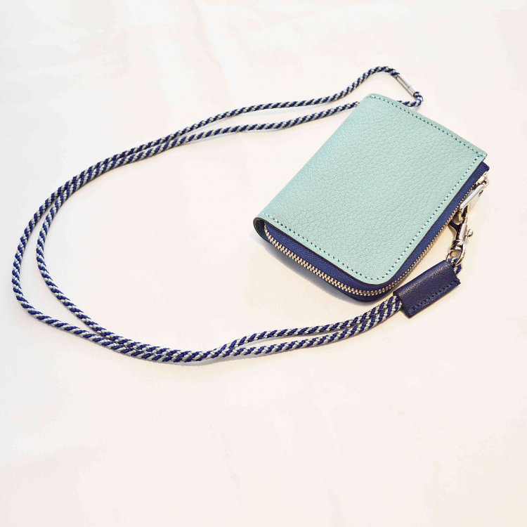 ITUAIS イトゥアイス / Montado Neck Mini Wallet モンタードネックミニウォレット (Turquoise Blue/Blue ターコイズブルーブルー)