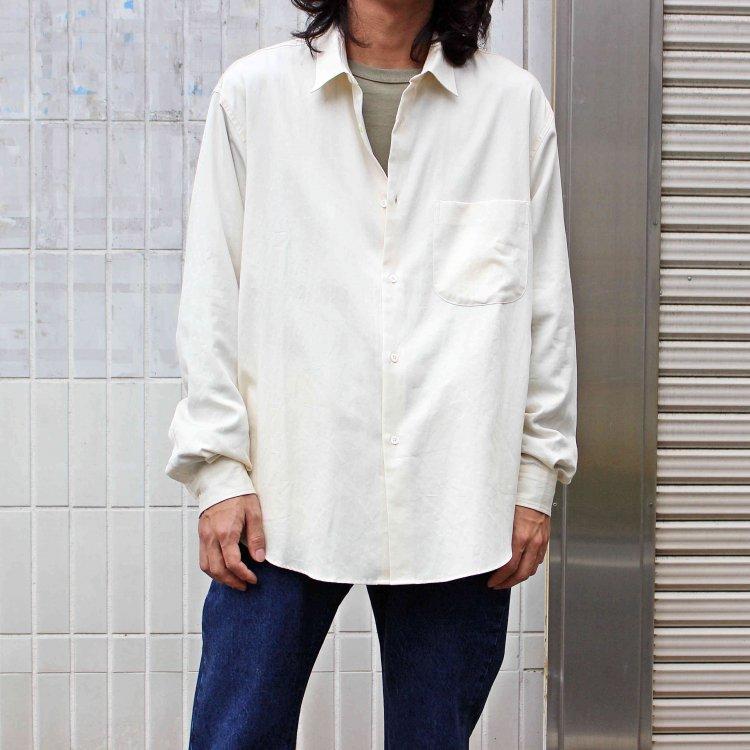 LAMOND ラモンド / SUPIMA COTTON BOLD SHIRT JACKET スーピマコットンボールドシャツジャケット (SILK WHITE シルクホワイト)