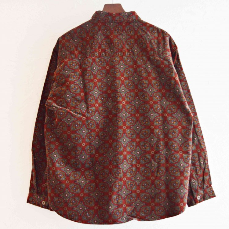 Nasngwam. ナスングワム / DAMASK SHIRTS ダマスクシャツ (BURGUNDY バーガンディ)