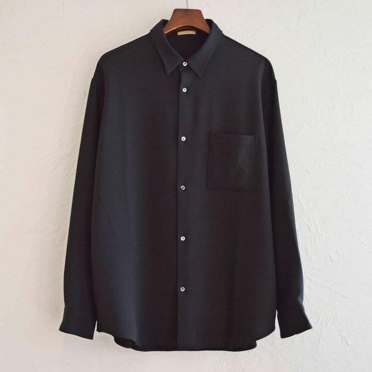 LAMOND ラモンド / STRETCH OX SHIRT ストレッチオックスシャツ (BLACK ブラック)