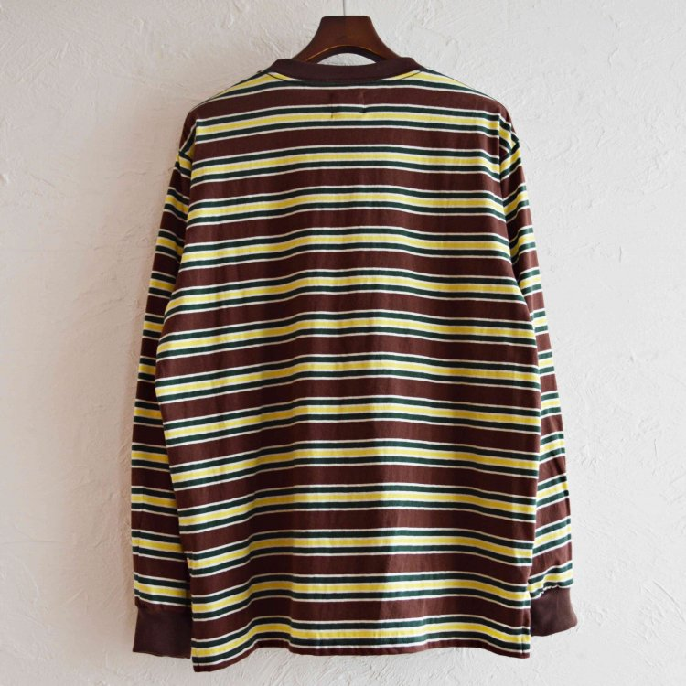 melple メイプル / Venice Border Longsleeve ヴェニスボーダーロングスリーブ「 (BROWN ブラウン)<img class='new_mark_img2' src='https://img.shop-pro.jp/img/new/icons1.gif' style='border:none;display:inline;margin:0px;padding:0px;width:auto;' />