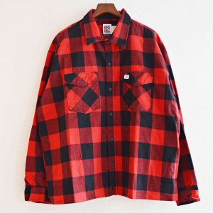 BIGBILL ビッグビル / PREMIUM FLANNEL WORK SHIRT-BIG SILHOUETTE ビッグフランネルワークシャツ (RED レッド)<img class='new_mark_img2' src='https://img.shop-pro.jp/img/new/icons1.gif' style='border:none;display:inline;margin:0px;padding:0px;width:auto;' />