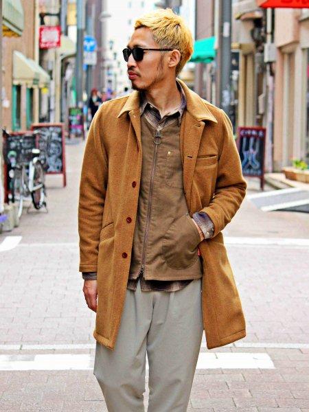 RE:DEVISE COAT 【CAMEL】  / Nasngwam. ナスングワム