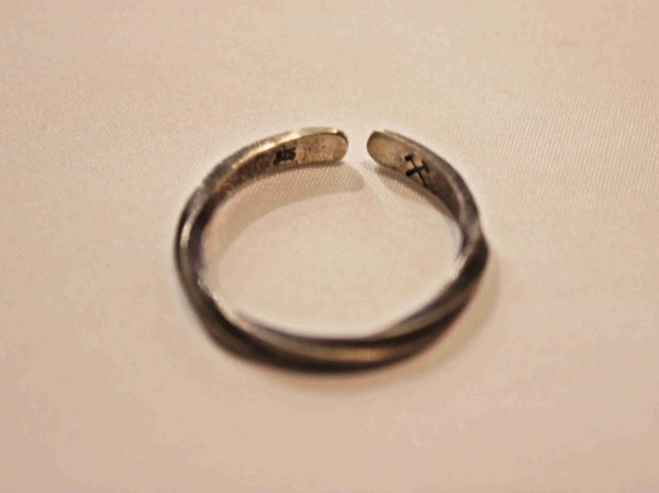 STERLING SILVER CUFF RING 【TWISTED】 / STUDBEAKER MEATALS