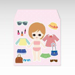 きせかえ人形(着せ替え人形)/コイン(硬貨)用ぽち袋(小)5枚