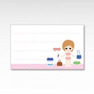 きせかえ人形(着せ替え人形)/メッセージカード 10枚